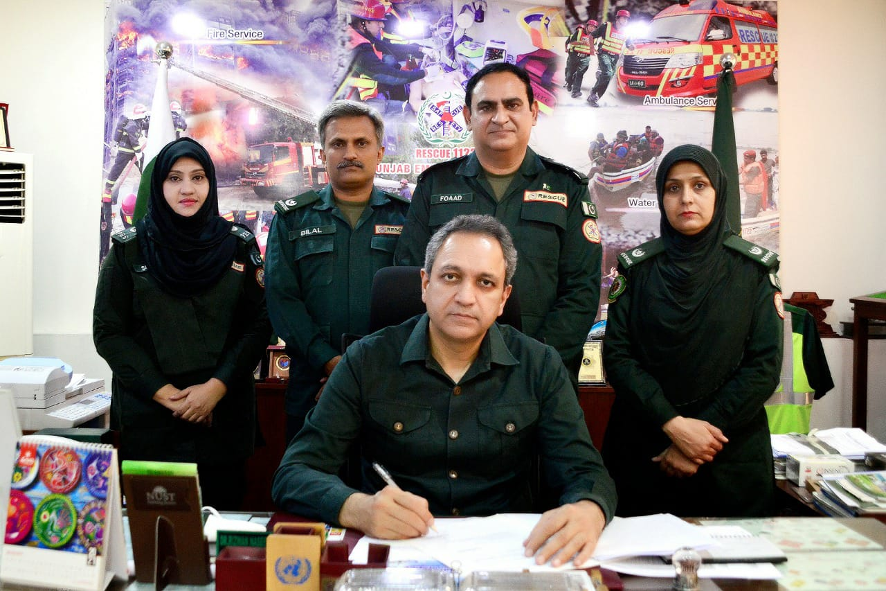 Director General Punjab Emergency Department Regularized Services of 103 Rescuers